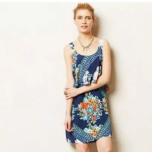 ANTHROPOLOGIE MAEVE Tisana Tiered Floral Dress